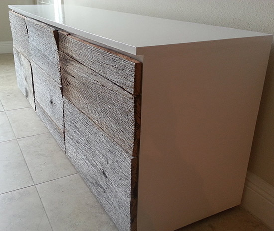 Side View for Reader Showcase // Two Toned Glossy and Reclaimed Life Sideboard