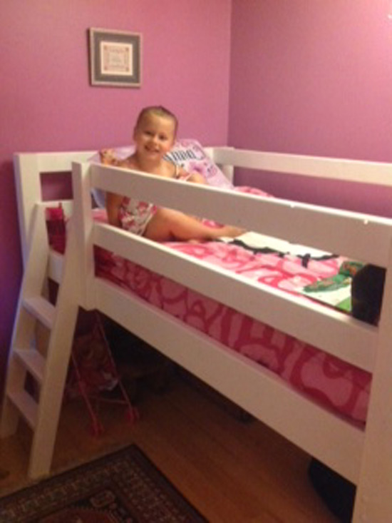 The Design Confidential Builders Showcase for Kevin's Adorable Little Builder and Her Gorgeous Loft Bed via @thedesconf