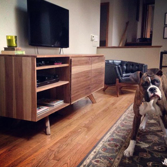 The Design Confidential Builder Showcase // A Mid Century Modern Credenza for Christmas
