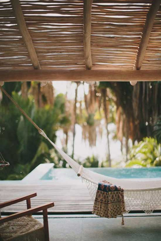 Poolside Oasis with Outdoor Hammock for Dream Home // Home Tech + Creature Comforts that Make Life Better