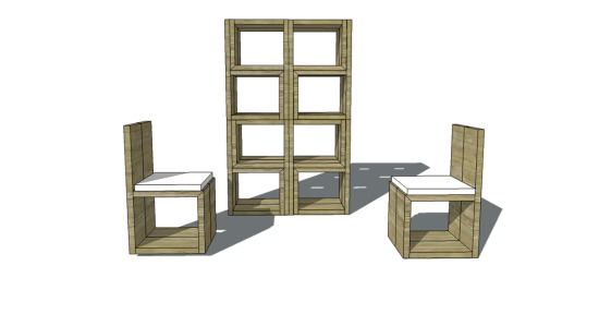 To Build A Stackable Cube Chair, Stacking Furniture Cubes