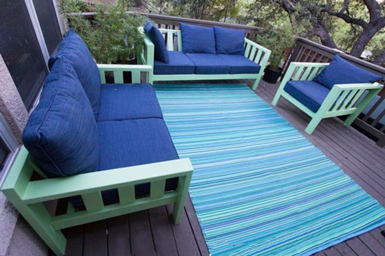 Free DIY Furniture Plans from The Design Confidential: Reef Outdoor Sofa Loveseat Chair Builders Showcase Justin Vaughn Outdoor Reef Collection Living Space