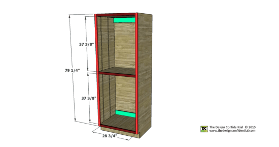 free woodworking plans to build the easiest pantry cabinet ever