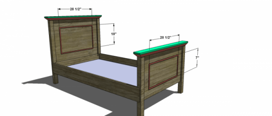 You Can Build This! Easy DIY Plans from The Design Confidential Free DIY Furniture Plans // How to Build A Twin Cottage Bed via @thedesconf