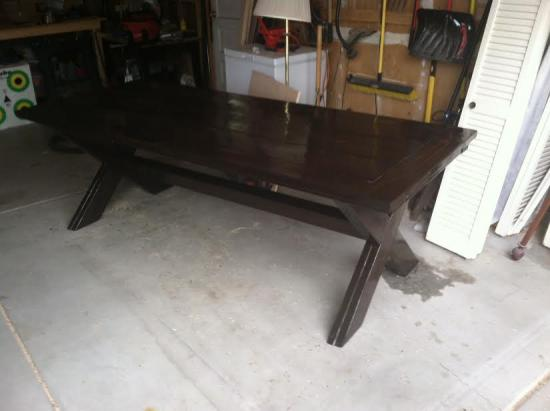 Finished Build and Stain for The Design Confidential Reader Showcase // Tahoe-Dude's Chesapeake Picnic Pable and Benches
