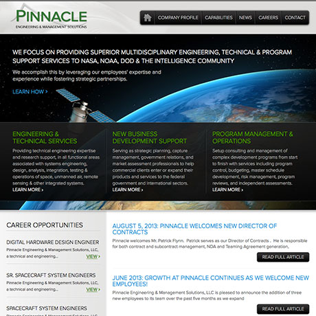The Design Group Web Design | pinnacle application ...
