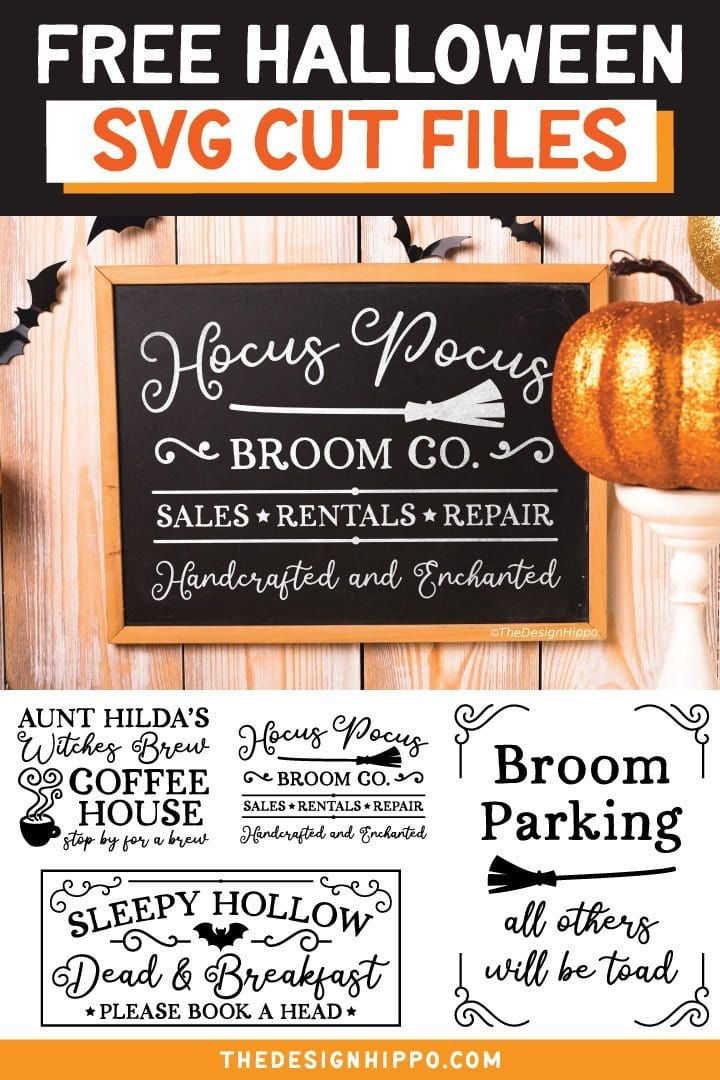 Free Farmhouse Halloween Sign SVG Cut Files For Cricut Silhouette DIY