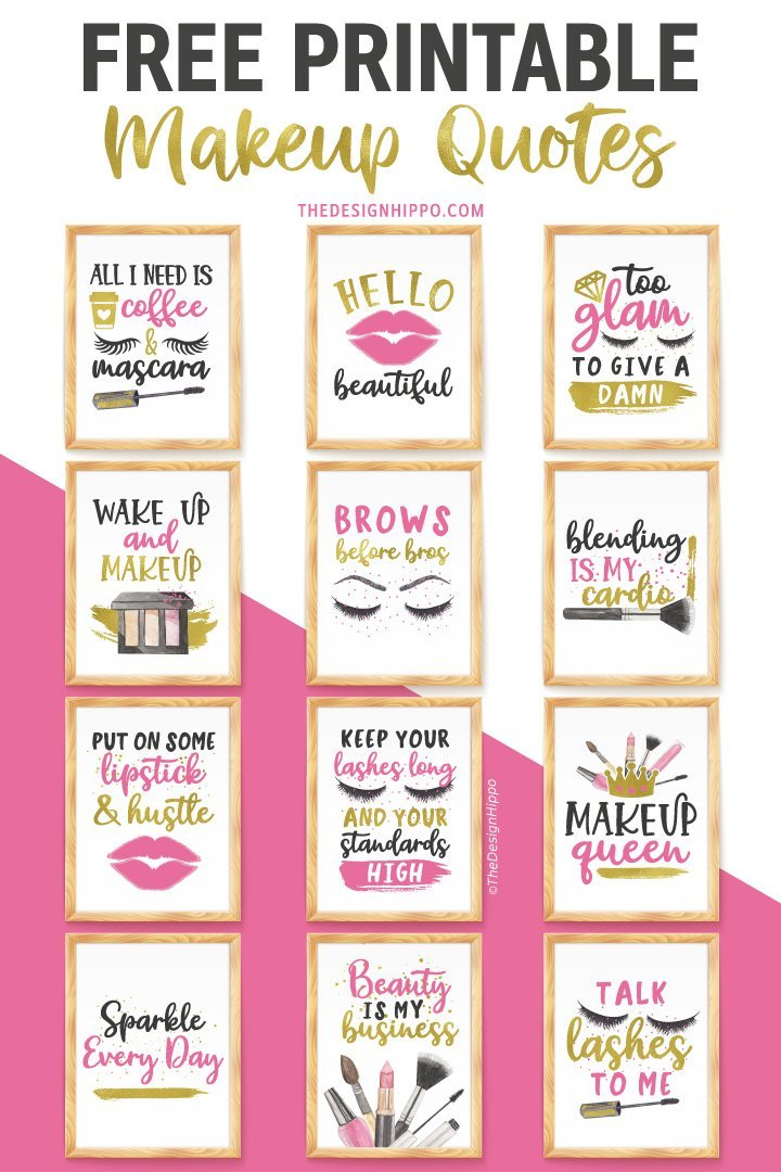 Free Makeup Decor Printable Wall Art Fashion Vanity Beauty