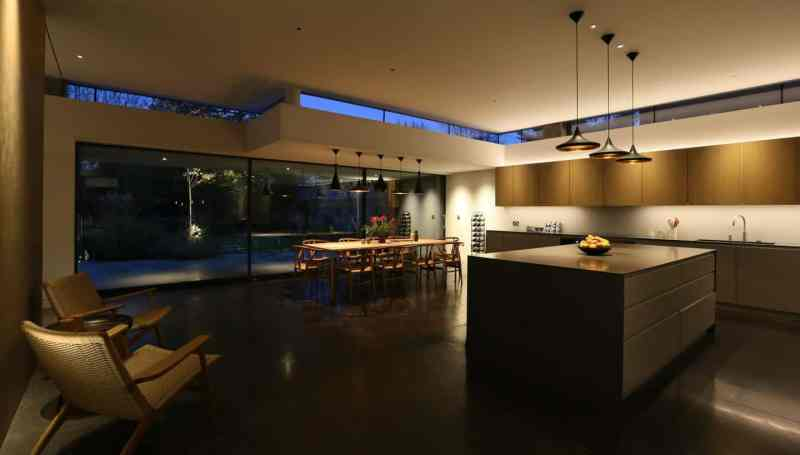 Kitchen design trends zoned kitchen  lighting by John Cullen Lighting