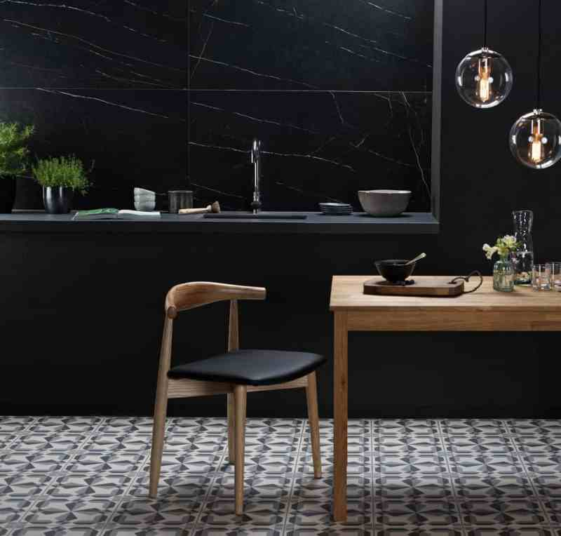 Kitchen design trends - large format tiles by Original Style - Nera Venato