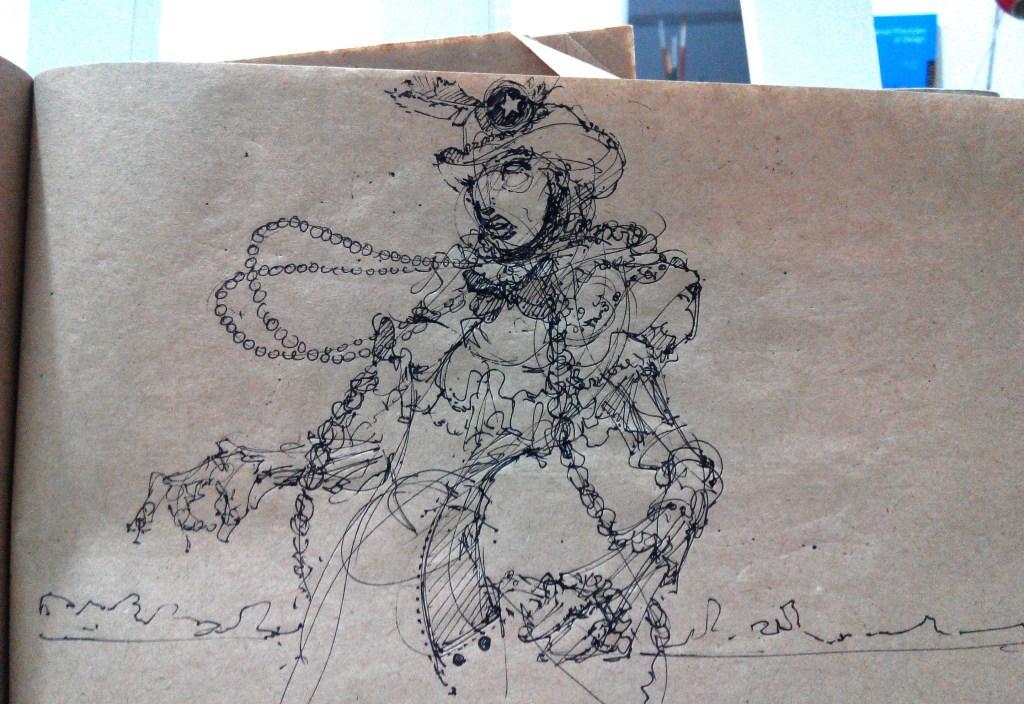 Cox boy fashion model drawing