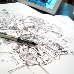 Study mechanical pieces for credible Concept art engines  TIP88