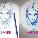 Paint with a Gel pen and water  TIP77