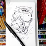 Love sketching with the Papermate FLAIR M (Medium) | TIP 144
