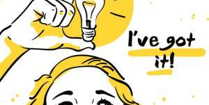 Get ideas fast - light bulb drawing