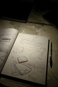 Yacht interior sketching