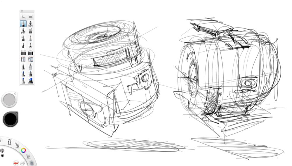 Drawing my Sony Camera