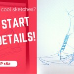 Wanna get cool design sketches? Do not start with details | TIP 162