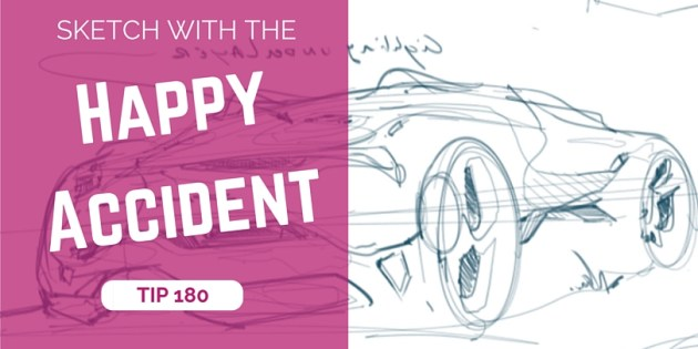 TIP 180 Car sketching using the happy accident - The design sketchbook