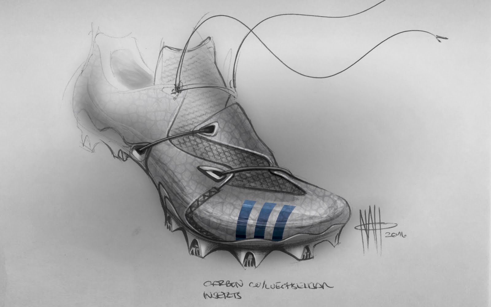 Noah Sussman Sports Product designer sketch footear Adidas performance football