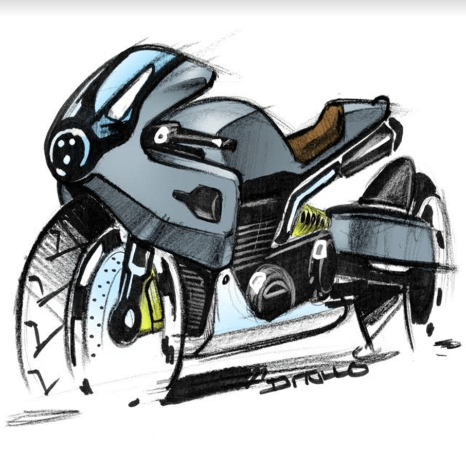 Michael DiTullo Design Sketching Sketchbook Motorbike