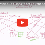 How to draw nice 3d planes to set up your perspective easily.