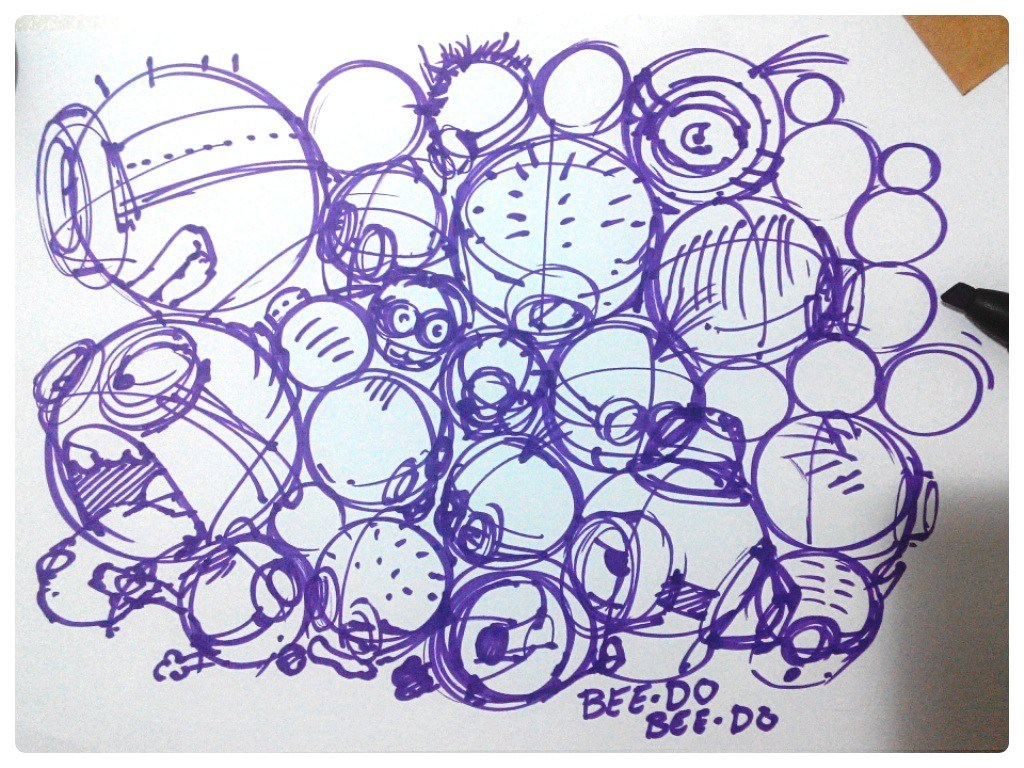 Minions-despicableme-sketch-theDesignsketchbook