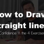 How to draw Straight lines (with confidence in 4 exercises) | BASIC SKETCHING