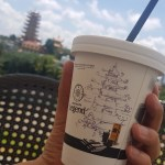 Drawing on a coffee cup / TIP 256