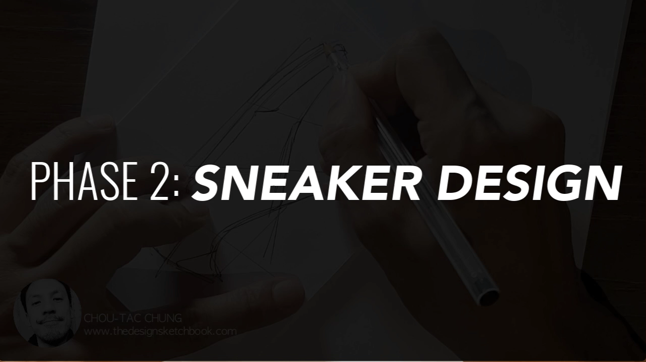 Draw your Sneaker design with a Dynamic style! with your ball point pen - The Design Sketchbook - Design sketching tutorial - Chung Chou-Tac j