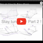 How to draw a side view shoe in 3 tips | TIP119