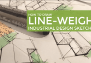 How to draw line weight - Industrial design sketching