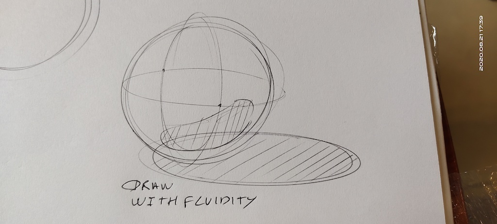 Draw with fluidity and confidence a sphere