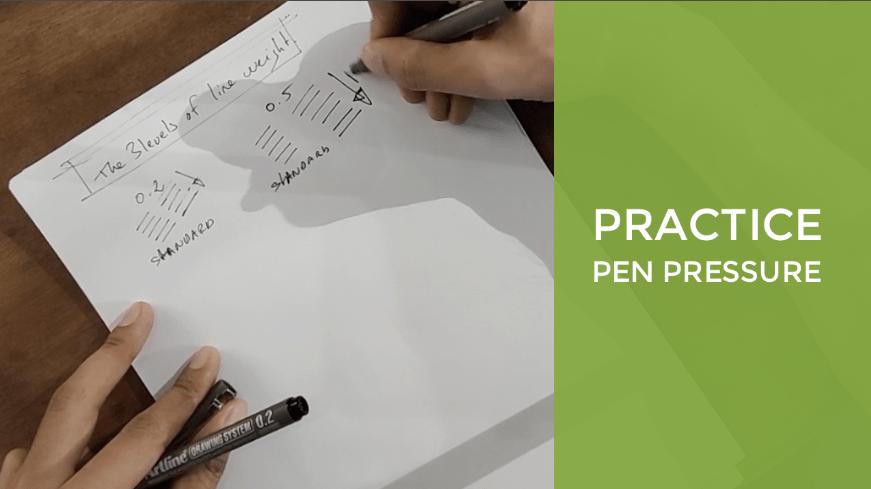 Practice pen pressure