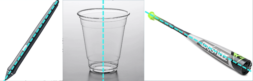 Take any product around you with a cylinder base.  Turn it in any angle while visualizing the invisible minor axis.