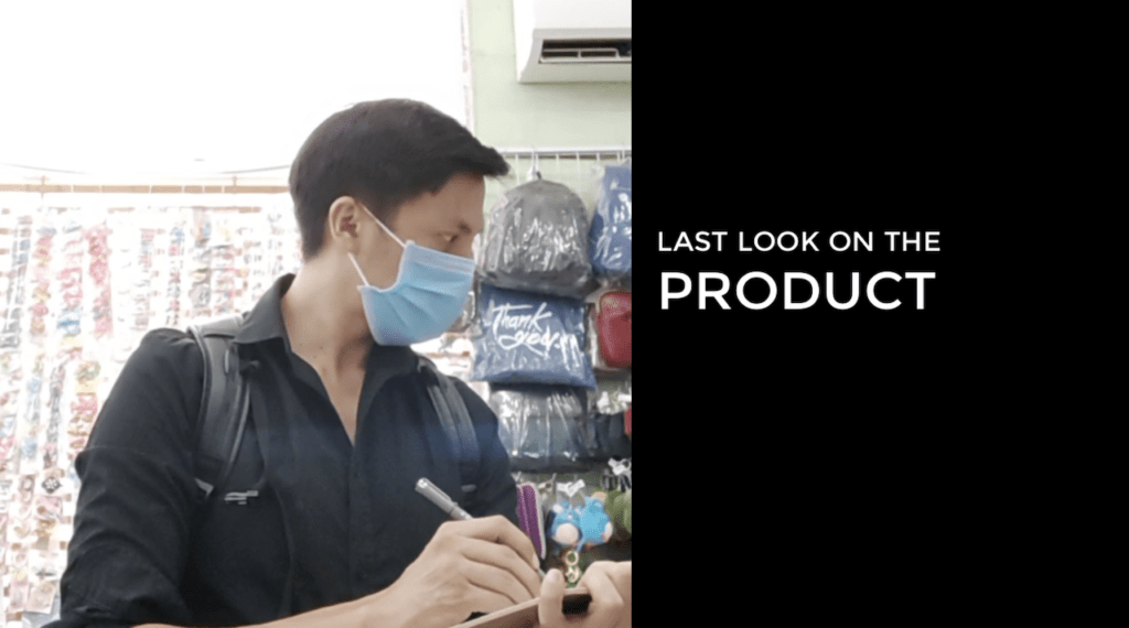 LAST LOOK ON THE PRODUCT