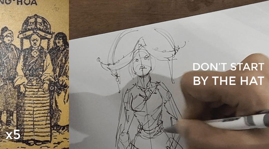 how to draw a body - character design sketching Don't start by the hat
