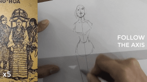 how to draw a body - character design sketching Follow the axis