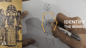 how to draw a body - character design sketching - Identify the bones