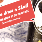 How to draw a skull easy | Ballpoint pen art