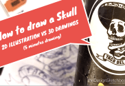 How to draw a skull with ballpoint pen