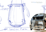 Easy reflection drawing on coffee carafe