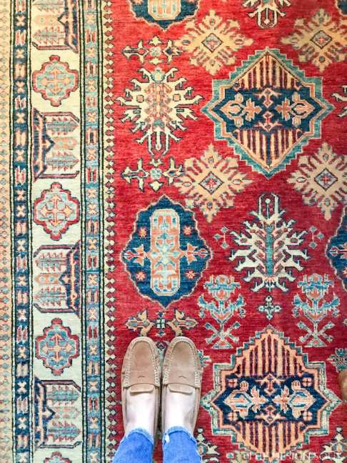 An expensive Kazak rug from a carpet store in Khobar