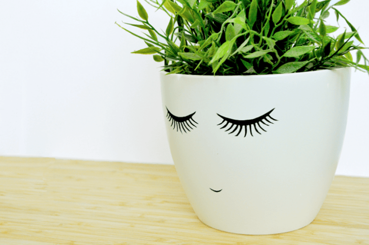 Face Plant Pot Part - 15: Download Link For Shy-Face Printable (Large U2013 Resize It To The Plant Pot Of  Your ...