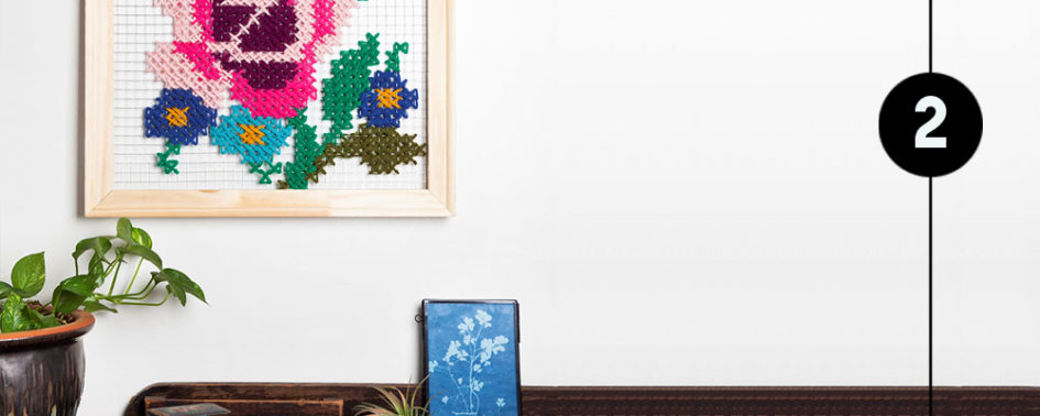 DIY cross stitch art