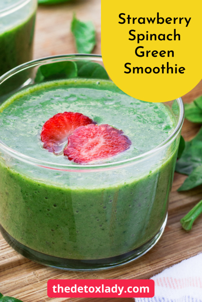 Strawberry Spinach Green Smoothie For Weight Loss