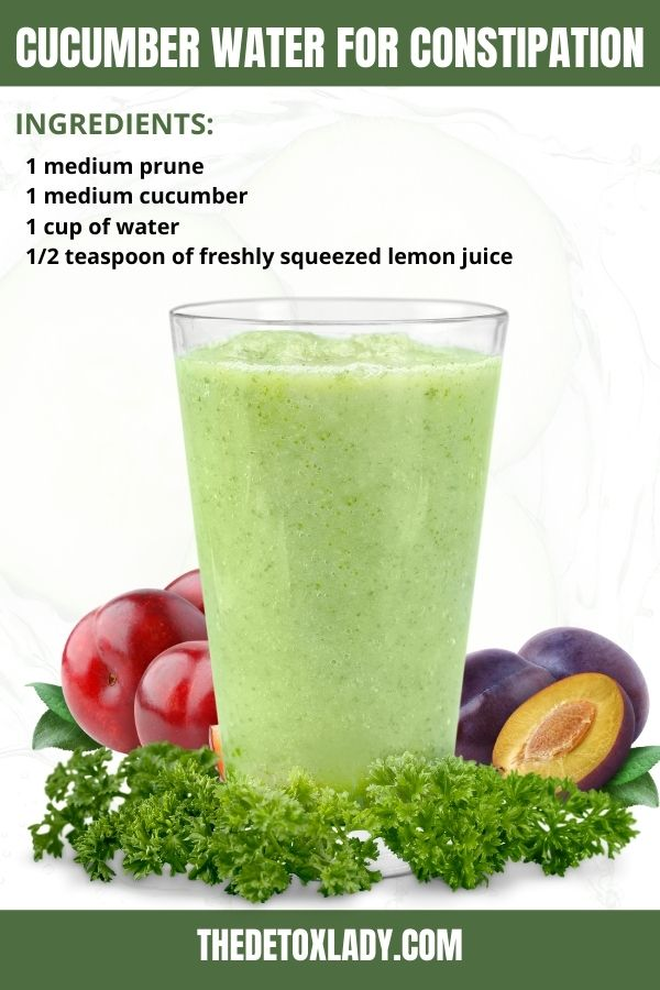 Plum Cucumber Water For Constipation