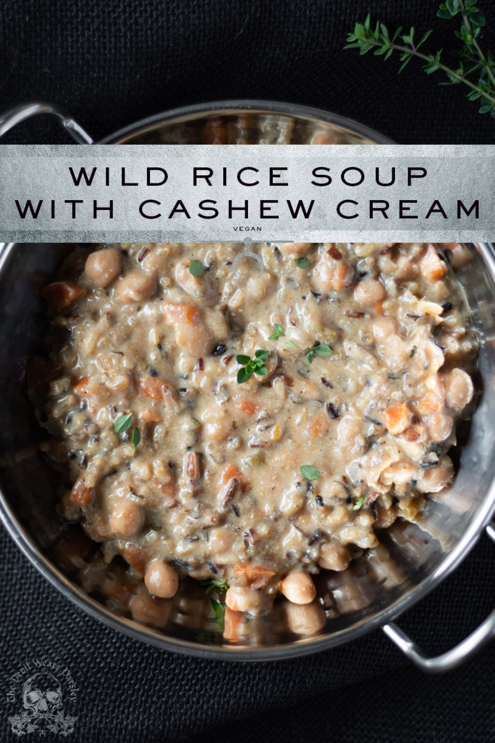Vegan Wild Rice Soup with Cashew Cream from the *NEW* Gluten Free Instant Pot Cookbook!