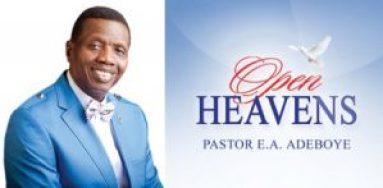 open heavens devotional by ea adeboye