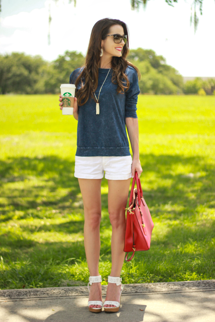 Red White And Blue Relaxed Summer Outfit